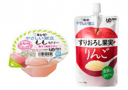 とろけるデザート(もも)+すりおろし果実(りんご)