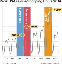 SLI Systems Peak Shopping Time Infographic