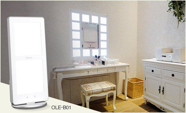 資生堂メーク用有機EL照明「0LB-B01」