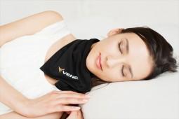 首に固定できる通し穴で睡眠時もずれずに着用