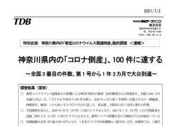 神奈川県内の「コロナ倒産」100件 最大規模は化粧品製造企業で負債26億円