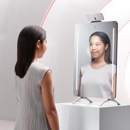 非接触型肌測定技術やスマートミラーをSHISEIDOの肌診断システムに提供